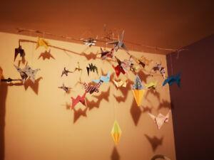 Mobile en origami fait à la main sur mesure :))