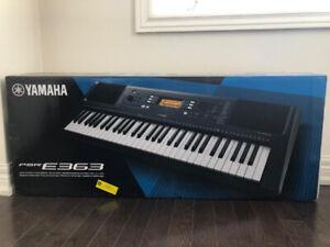 Yamaha PSR-E363 61-Key Portable Keyboard- touch-sensitive keys