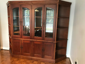 Solid wood cabinet/bookcase