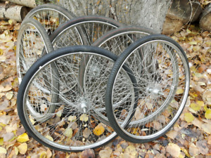 Cart wheels  $10. Takes them all.
