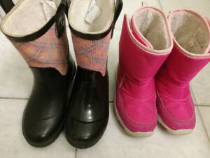 2 Toddler Girl Winter Boots, Size 10