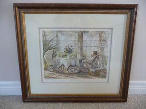 Framed Limited Edition Print - Trisha Romance - Mother's Arms London Ontario image 1