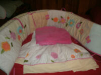 Quality Crib Linens with Bumper Pad and Crib Skirting