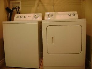 AMANA TOP LOAD WASHER & DRYER