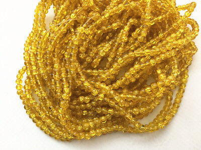 10 strands(2000 pcs) 4mm round crackle glass beads-7701c
