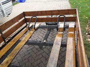 7.5 by 4.5 ft bike trailer / utility trailor London Ontario image 3