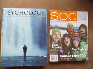 Textbooks: Sociology and Psychology new (in plastic)