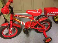Boys fireman bike