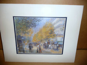 """Pierre Auguste Renoir """"The Boulevards"""" Painted 1875 Art Print"""