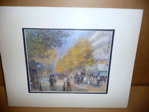 "Pierre Auguste Renoir ""The Boulevards"" Painted 1875 Art Print Stratford Kitchener Area image 1"