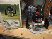 Power Router – Heavy Duty – Craftsman with Table and Bits