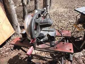 sliding Mitre Saw and Workmate