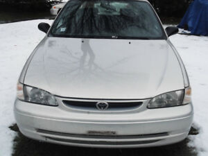 Toyota corolla 1999-2002 used parts.