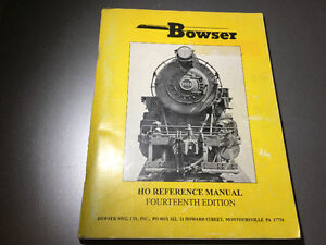1993 Bowser HO Reference Manual 14th Edition HO Scale Train