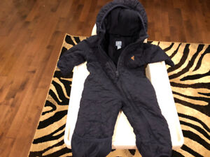Gap Baby boy size 3-6 quilted overall with fleece liner