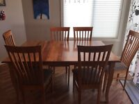 Solid birch table and chairs