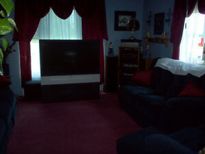 2 pair BURGUNDY SATIN curtains with swags