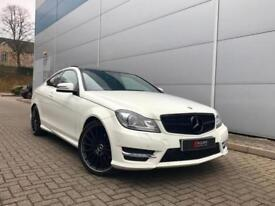 2011 61 reg Mercedes-Benz C220 CDI AMG Sport Edition 125 Coupe+ WHITE + PAN ROOF