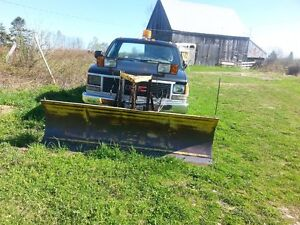 1988 GMC 2500 4 x 4 Pickup Truck with Fisher Plow