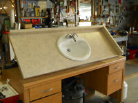 bathroom sink and fawcette