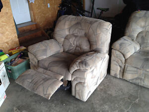 Reclining Sofa and reclining chair