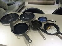 Set of 6 brand new frying pans £25