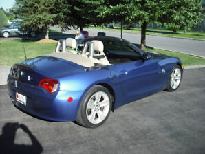 2007 AUTOMATIC BLUE BMW Z4 Roadster For Sale (SAFETIED)