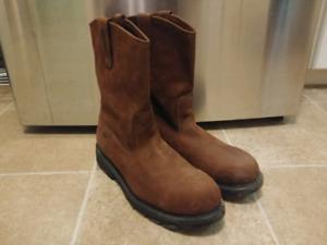 Wolverine slip on steel toe work boots size 13