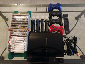 Sony PlayStation 3 PS3 Fat with games / controllers