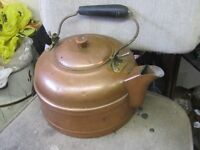 OLD COPPER TEA WATER KETTLE $30 CABIN COTTAGE DECOR