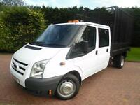 2011/61 Ford Transit T350 2.4TDCI LWB DOUBLE CAB CAGED TIPPER