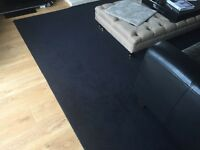 Black wool rug / carpet