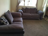 2 Seater + 3 Seater Sofa Works Couch Set