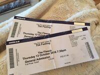 'The feeling' tickets, 13th Oct, the fleece, bristol