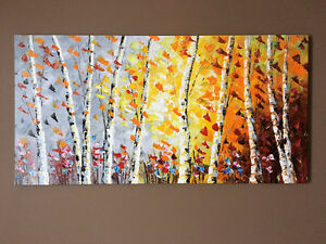 Original Oil Painting Autumn Breeze + ABLE TO SHIP