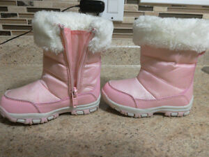 Kids/toddler girls snow boots pink