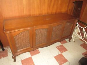 Console stereo antique, Antique stereo console cabinet