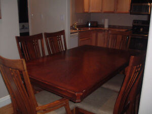 Solid Wood Dining Table and  6 Chairs Peterborough Peterborough Area image 1