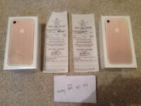 APPLE IPHONE 7, GOLD, 128gb with receipt