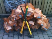 Logs/firewood/kindling for sale.