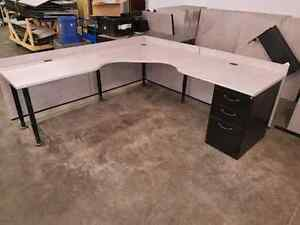 Used L-shape  shape desks  London Ontario image 1