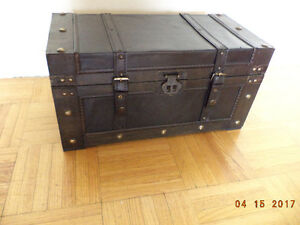 Jewelry box, antique trunk style, brand new