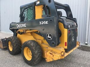 2014 JOHN DEERE 326E SKID STEER LOADER-CAB WITH HEAT AND 2 SPEED