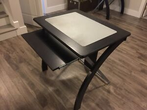 small glass top desk, asking 65$