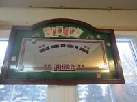 POKER MIRROR SIGN