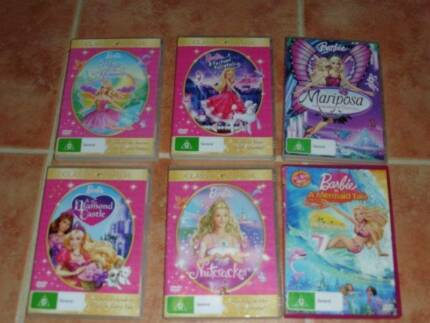 6 Barbie dvds Bli Bli Maroochydore Area Preview