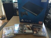 PS3 500GB well looked after + 1 controller and 4 awesome games