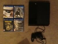 Boxed Ps4 with 4 games, 1 controller
