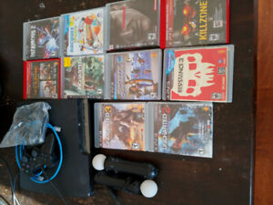 PS3, controller, and Games