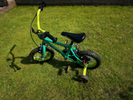 Child's Halfords 12'' wheel 3-4 year Marvin the Monkey bike